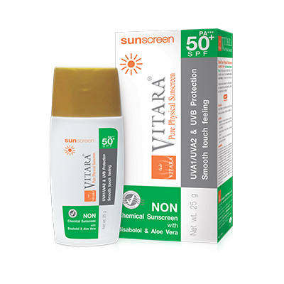 Vitara Pure Physical Sunscreen Fluid SPF50